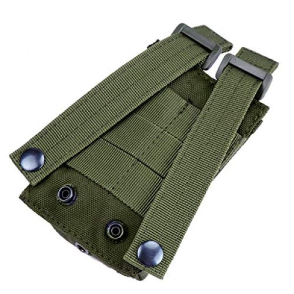 """abcGoodefg Tactical Pouch 5 abcGoodefg 1000D Adjustable Molle Tactical Pouch Radio Holster Case Walkie Talkie Holder Duty Belt, 5.3""""x 3.5""""x 1.6"""" (Amy Green)"""