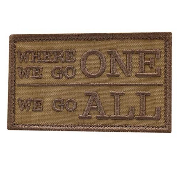 LEGEEON Airsoft Morale Patch 1 LEGEEON Coyote WWG1WGA Where We Go One All 2x3.25 US Morale Fastener Cap Patch