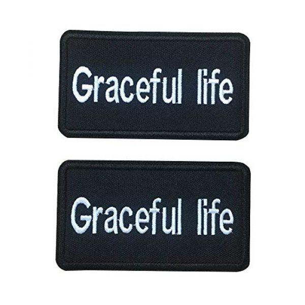 """Graceful life Airsoft Morale Patch 3 Graceful life Custom Embroidery Name Patches 3 1/2""""W x 2""""H Personalized Military Number Tag Customized Logo ID for Multiple Clothing Bags Vest Jackets Work Shirts"""