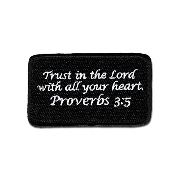 BASTION Airsoft Morale Patch 1 BASTION Morale Patches (Proverbs 3:5, BNW) | 3D Embroidered Patches with Hook & Loop Fastener Backing | Well-Made Clean Stitching | Christian Patches Ideal for Tactical Bag, Hats & Vest