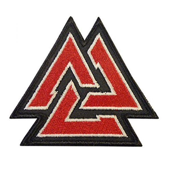 LEGEEON Airsoft Morale Patch 2 LEGEEON Glow Dark Valknut Viking Norse Rune Morale Tactical Sew Iron on Patch