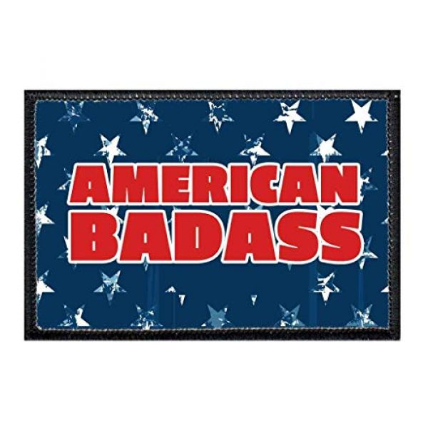 P PULLPATCH Airsoft Morale Patch 1 American Badass Morale Patch | Hook and Loop Attach for Hats, Jeans, Vest, Coat | 2x3 in | by Pull Patch