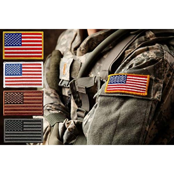 ASA TECHMED Airsoft Morale Patch 7 8 Pc Assorted USA Tactical American Flag Patch Thin Blue Line United States Military Morale Patches Set for Molle, Hats, Backpacks,Tactical Vest, Uniforms