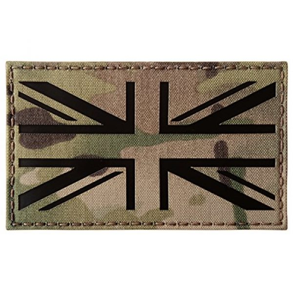 Tactical Freaky Airsoft Morale Patch 5 Big 3x5 Multicam Infrared IR UK Union Jack Flag IFF Tactical Morale Fastener Patch