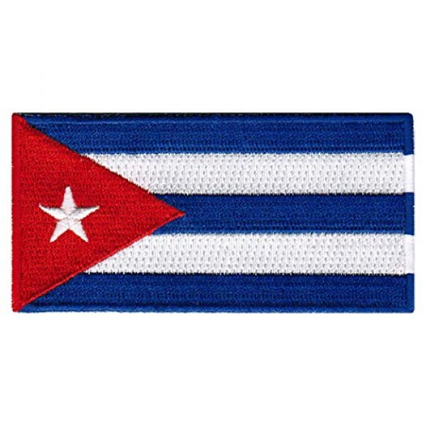 Cypress Collectibles Embroidered Patches Airsoft Morale Patch 1 Cuba Flag Embroidered Patch Cuban Iron-On National Emblem