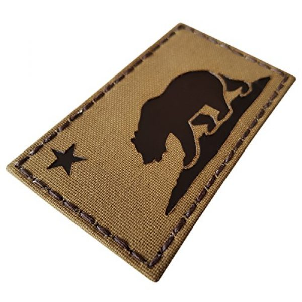 Tactical Freaky Airsoft Morale Patch 4 Coyote Brown Infrared IR California Republic State Flag 3.5x2 Tan Arid IFF Tactical Morale Touch Fastener Patch