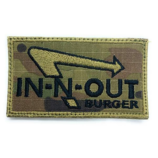 Almost SGT Airsoft Morale Patch 1 in-N-Out Burger - Funny Tactical Military Morale Embroidered Patch Hook Backing(Camouflage)