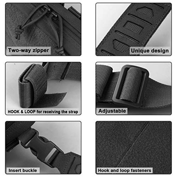 AMYIPO Tactical Pouch 4 AMYIPO Tactical Combat Chest Pack Molle Vest Bags Front Admin Pouch Equipment Multi-Purpose EDC Utility Recon Kit Bag Utility Pouches Modular Attachment Military Multi-Purpose Daypack