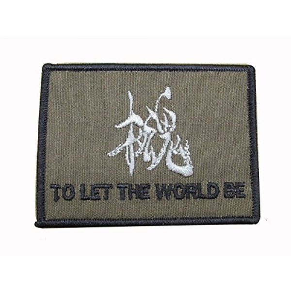 DREAM ARMY Airsoft Morale Patch 1 MGS Metal Gear Solid TO LET THE WORLD BE Sanke Morale Embroidery Morale Patch Hook Backing