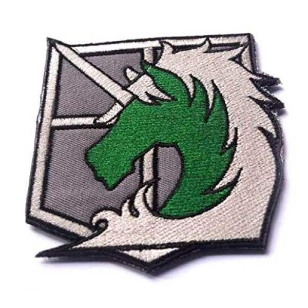 Embroidered Patch Airsoft Morale Patch 5 4pc Attack on Titan 3D Tactical Patch Military Embroidered Morale Tags Badge Embroidered Patch DIY Applique Shoulder Patch Embroidery Gift Patch