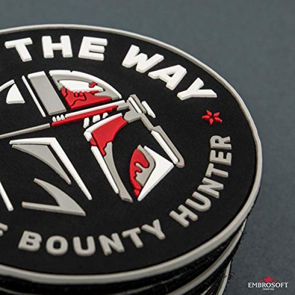 Embrosoft Airsoft Morale Patch 7 Bounty Hunter PVC Patch - This is The Way Mandalorian - Star Wars TV Series Morale Emblem - Hook/Loop Backing - Size: 3.5 x 3.5 inches