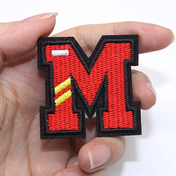 JUSTOTRY Airsoft Morale Patch 3 26 Letters DIY Velcro hat Patches Tactical Morale Full Embroidery Patch for Caps,Bags,Backpacks,Tactical Vest,Military Uniforms-from A to Z