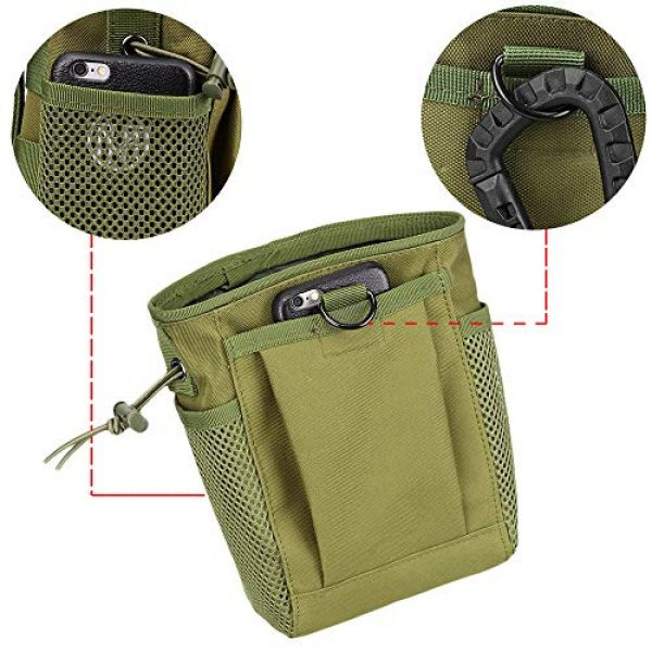 AMYIPO Tactical Pouch 5 AMYIPO Tactical Molle Drawstring Magazine Dump Pouch, Military Adjustable Belt Utility Hip Holster Bag Outdoor Mag Pouch
