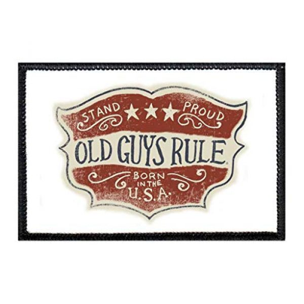 P PULLPATCH Airsoft Morale Patch 1 Old Guys Rule - Born in The USA Morale Patch | Hook and Loop Attach for Hats, Jeans, Vest, Coat | 2x3 in | by Pull Patch
