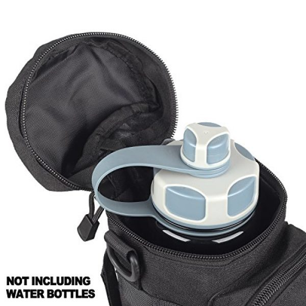 AMYIPO Tactical Pouch 2 AMYIPO Tactical MOLLE Water Bottle Pouch Holder Storage Bag for 32oz Carrier