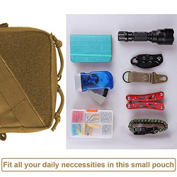 AMYIPO Tactical Pouch 6 AMYIPO Tactical Molle Admin Pouch Equipment Multi-Purpose EDC Utility Tools Bag Utility Pouches