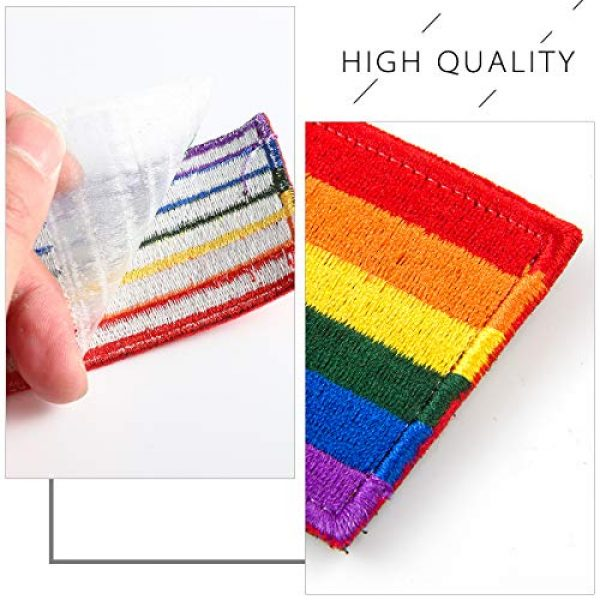 Alphatool Airsoft Morale Patch 3 Alphatool 8pcs LGBT Pride Rainbow Flag Patch- Gay Pride Lesbian Embroidered Iron On/Sew On Appliques Patch Morale Emblem with Hot Glue Design for Hat Cap Polo Backpack Clothing Jacket Shirt