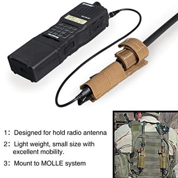 IDOGEAR Tactical Pouch 3 IDOGEAR Tactical Radio Antenna System Relocation Pouch Molle Pouch for PRC152 PRC148 MBITR