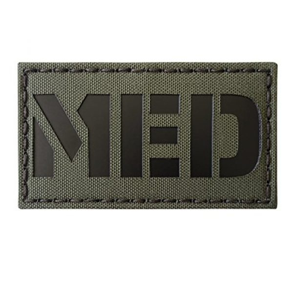 Tactical Freaky Airsoft Morale Patch 1 Ranger Green Infrared MED Medical IR EMS 3.5x2 Tactical Morale Fastener Patch