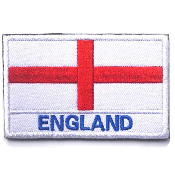 Tactical Embroidery Patch Airsoft Morale Patch 2 2pcs England Flag Embroidery Patch Military Tactical Morale Patch Badges Emblem Applique Hook Patches for Clothes Backpack Accessories