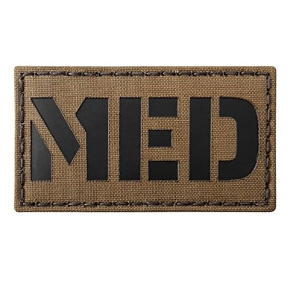 Tactical Freaky Airsoft Morale Patch 1 Coyote Brown Tan Infrared MED Medical EMS 3.5x2 Tactical Morale Hook-and-Loop Patch