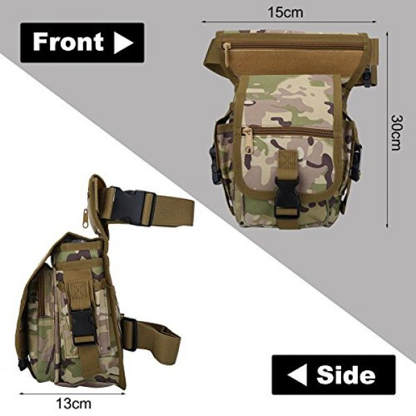 VGEBY Tactical Pouch 5 VGEBY Hunting Leg Pouch, Camouflage Drop Leg Thigh Packs Tactical Waist Pouch Satchel for Motorcycle Hunting Riding