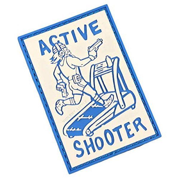 Violent Little Machine Shop Airsoft Morale Patch 1 Active Shooter PVC Morale Patch by Violent Little Machine Shop - Tactical Velcro