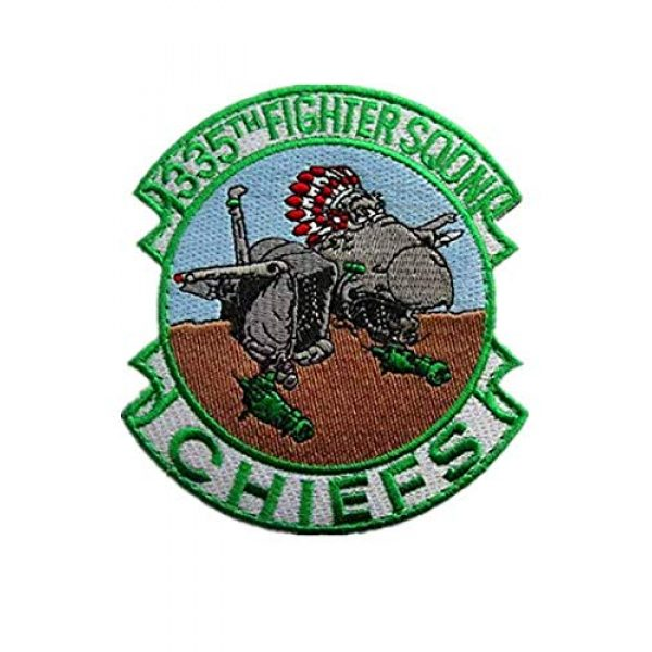 Embroidery Patch Airsoft Morale Patch 1 335th Tactical Fighter Squadron Chiefs Air Force Military Hook Loop Tactics Morale Embroidered Patch