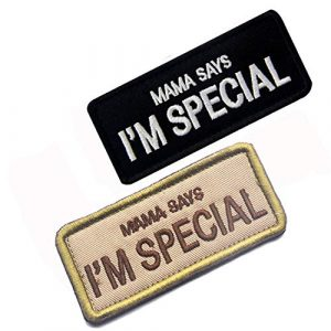 LanXin Airsoft Morale Patch 1 2 Pieces Mama Says I'm Special Embroidery Patch Military Morale Patch Tactical Emblem Badges Appliques Embroidered Patches - Hook and Loop Fasteners Backing Patches