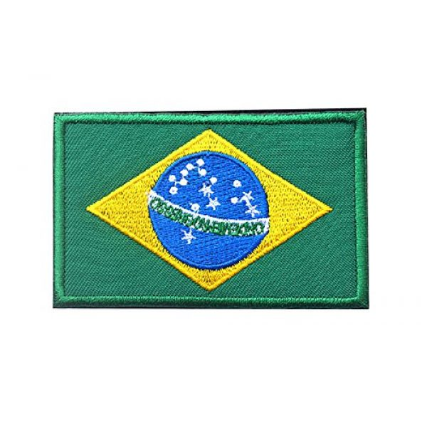 TopAAA Airsoft Morale Patch 1 TopAAA Brazil Flag Military Embroidered Tactical Velcro Patch Morale Shoulder Applique