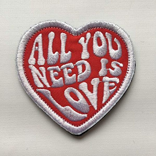 Xunqian Airsoft Morale Patch 3 All You Need is Love Military Heart Funny Embroidered Morale Hook & Loop Patch (B-Love Heart)
