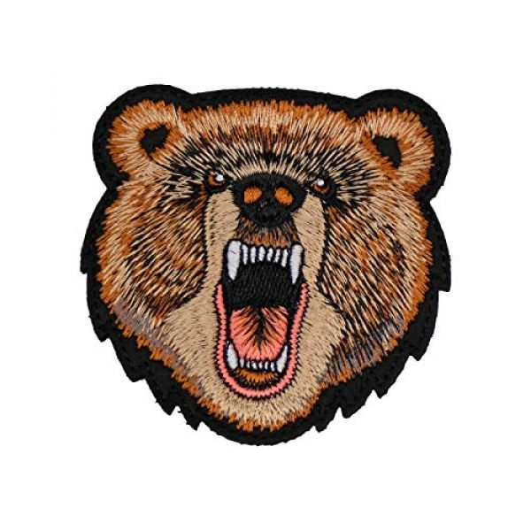 WLKQ Airsoft Morale Patch 1 Wlkq Bear Patch Morale Tactical Military Hook and Loop Patches Perfect for Hats,Caps,Bags,Jackets,Backpacks,Embroidered Armbands Badges (wanppen-53)