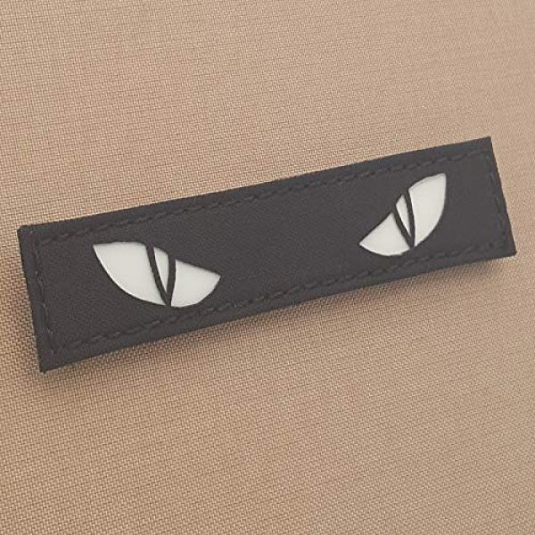 Tactical Freaky Airsoft Morale Patch 1 Glow Dark Scary Cat Eyes 1x5 GITD Eye Morale Tactical Touch Fastener Patch