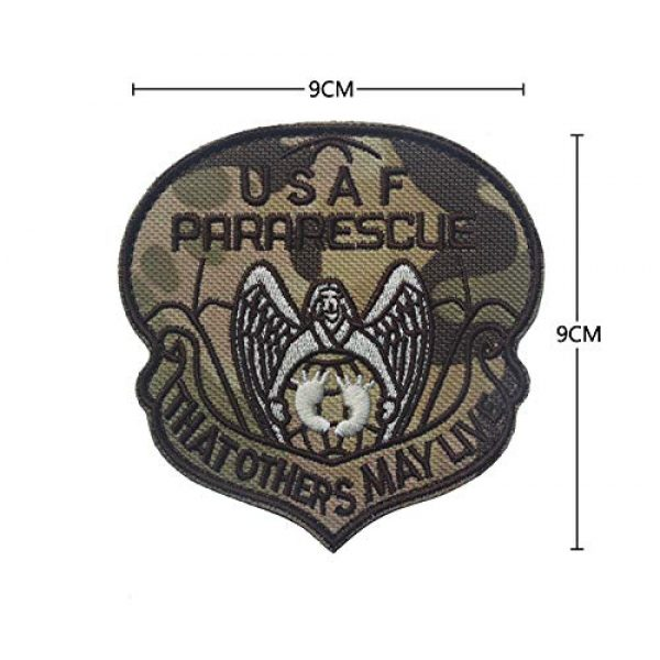 Zhikang68 Airsoft Morale Patch 4 US Air Force Patch USAF Emblem United States Paratrooper Tactical America Military Embroidered Morale Badges Applique for Coat Jacket Gear Cap Hat Backpack (Set 9)