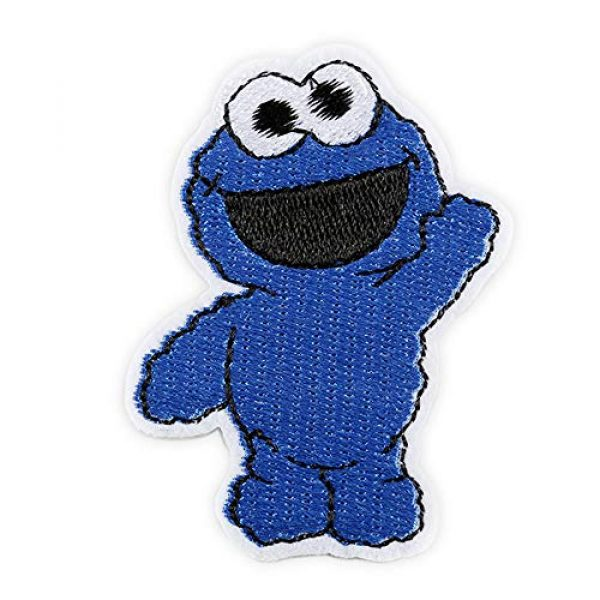 DOHAOOE Airsoft Morale Patch 1 Sesame Street Patch 1 Piece Cookie Monster Sew On/Iron On Patches for Jackets Backpacks Clothes Jeans Denim Hat Exquisite Embroidered Cartoon Applique DIY Decorations(Cookie Monster 2)