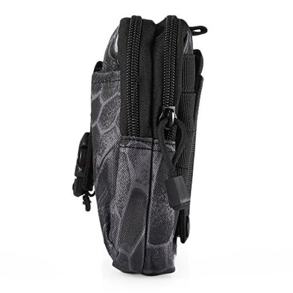 AODD Tactical Pouch 5 AODDING Tactical Pouch Bag, Waterproof Outdoor Sports Tactical Molle Waist Bag, Mini Size and Easy to Carry, Strong, Practical, Security Carry Case for Camping Hiking Mountaineering