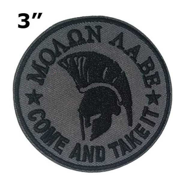 """Appalachian Spirit Airsoft Morale Patch 2 Molon Labe Spartan Helmet 3"""" Embroidered Premium Patch Iron-On/Sew-On Decorative Applique Cap Hat American Nation Country Patriotic Military Veteran Uniform Name Tag Custom Gear Ancient Warrior"""