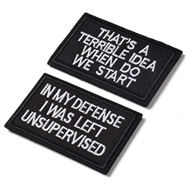 J.CARP Airsoft Morale Patch 2 2 Pieces in My Defense I was Left Unsupervised &That's a Terrible Idea When Do We Start Tactical Military Morale Patch for Tactical Gear