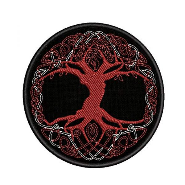 Appalachian Spirit Airsoft Morale Patch 1 Yggdrasil The Tree of Life in Norse Patch Embroidered Badge Iron On Sew On Emblem
