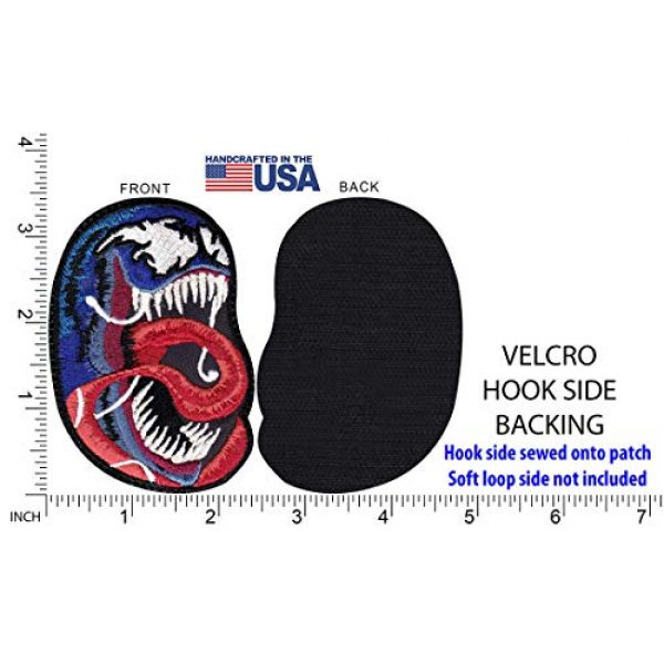Tactical Patch Works Airsoft Morale Patch 5 Venom Tongue Real Head Eddie Brock Inspired Art Patch