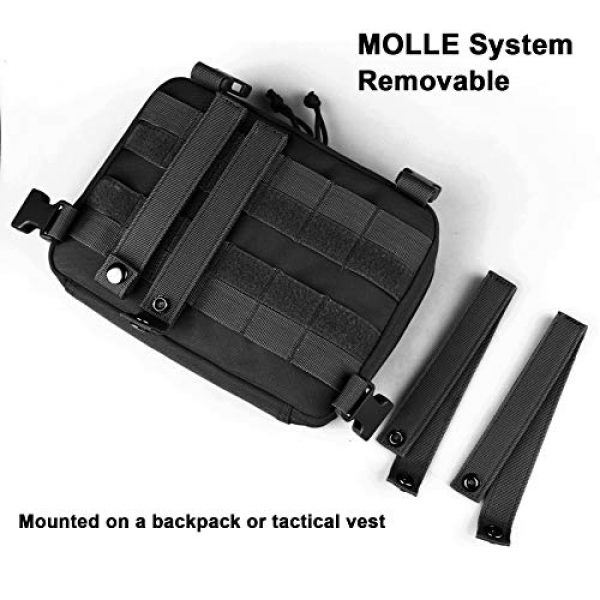 AMYIPO Tactical Pouch 5 AMYIPO Tactical Combat Chest Pack Molle Vest Bags Front Admin Pouch Equipment Multi-Purpose EDC Utility Recon Kit Bag Utility Pouches Modular Attachment Military Multi-Purpose Daypack