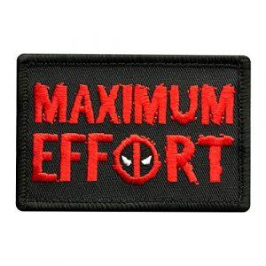Miltacusa Airsoft Morale Patch 1 Maximum Effort Tactical Hook Patch (3.0 X 2.0 MXE4)