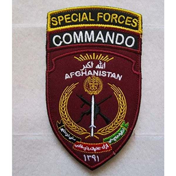 Embroidered Patch Airsoft Morale Patch 1 Special Forces Commando Afghanistan 3D Tactical Patch Military Embroidered Morale Tags Badge Embroidered Patch DIY Applique Shoulder Patch Embroidery Gift Patch