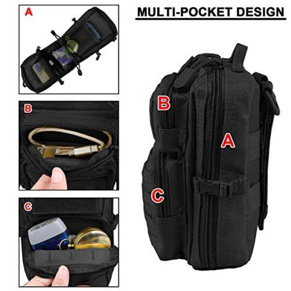AMYIPO Tactical Pouch 3 AMYIPO MOLLE Pouch Multi-Purpose Compact Tactical Waist Bags Small Utility Pouch Mini Pocket
