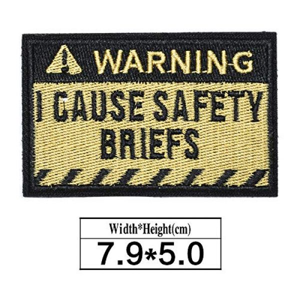 ZHDTW Airsoft Morale Patch 2 ZHDTW Tactical Morale Letter Patches Warning I Cause Safty Briefs Decorative Patches with Hook Loop for Bags, Backpacks, Clothing (DT052)