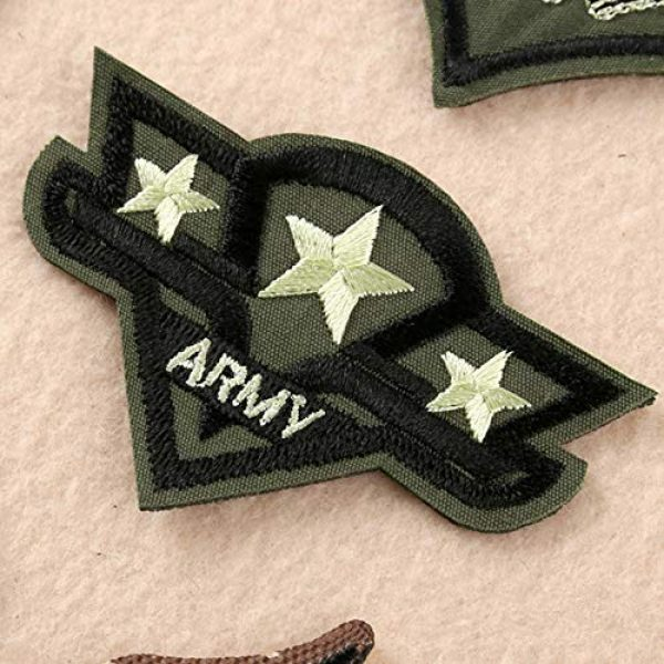 Fexo Airsoft Morale Patch 2 Tactical Military Combat Morale Patch 10 PCS Assorted US Military Patches Set for Caps, Bags, Backpacks, Tactical Vest, Military Uniforms