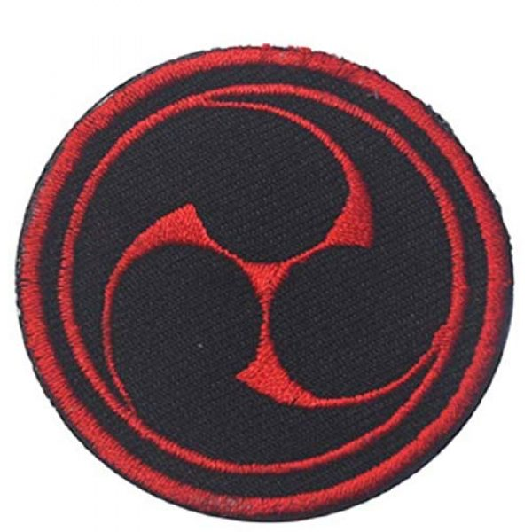 Embroidered Patch Airsoft Morale Patch 2 2pc Japanese Ninja Throw Style 3D Tactical Patch Military Embroidered Morale Tags Badge Embroidered Patch DIY Applique Shoulder Patch Embroidery Gift Patch