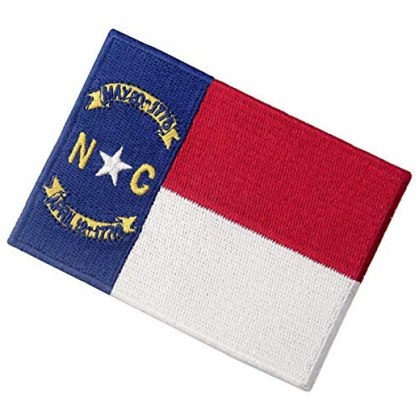 EmbTao Airsoft Morale Patch 4 North Carolina State Flag Patch NC Embroidered Applique Iron On Sew On Emblem