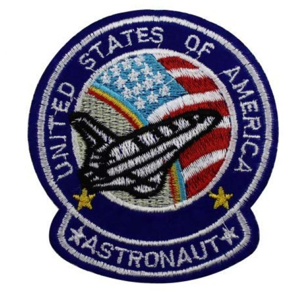 Tactical Embroidery Patch Airsoft Morale Patch 1 USA United States Pilot Planet Astronaut Spaceship Space Embroidery Patch Military Tactical Morale Patch Badges Emblem Applique Hook Patches for Clothes Backpack Accessories