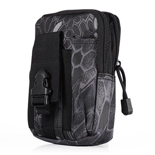 AODD Tactical Pouch 3 AODDING Tactical Pouch Bag, Waterproof Outdoor Sports Tactical Molle Waist Bag, Mini Size and Easy to Carry, Strong, Practical, Security Carry Case for Camping Hiking Mountaineering